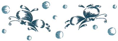 "Embroidery Design: Butterflies & Bubbles 116.77"" x 2.33"""