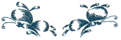 """Embroidery Design: butterflies 125.23"""" x 1.59"""""""