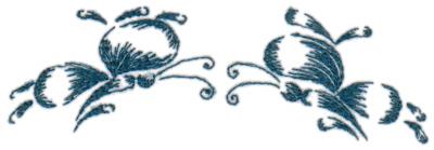 """Embroidery Design: Butterflies 135.12"""" x 1.63"""""""