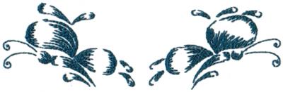 """Embroidery Design: Butterflies 147.85"""" x 2.39"""""""