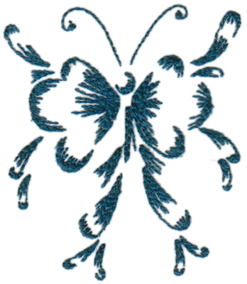 """Embroidery Design: Butterflies and Bubbles3.75"""" x 4.28"""""""