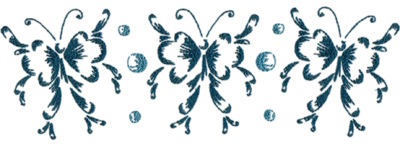 """Embroidery Design: Butterflies and Bubbles11.75"""" x 3.88"""""""