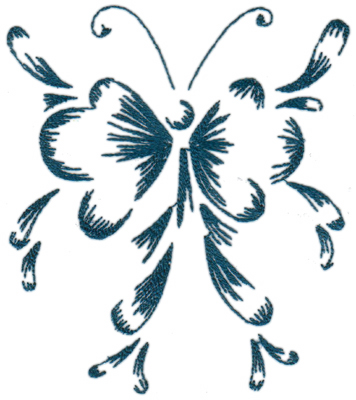 """Embroidery Design: Butterflies and Bubbles6.58"""" x 7.51"""""""