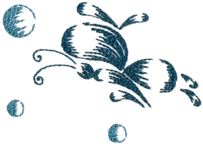 """Embroidery Design: Butterflies and Bubbles4.50"""" x 3.21"""""""