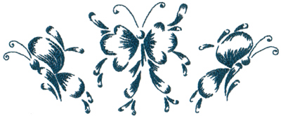 """Embroidery Design: Butterflies and Bubbles 2610.31"""" x 4.28"""""""