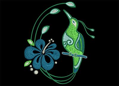 Embroidery Design: Birds of Paradise 4 Lg 4.20w X 4.92h