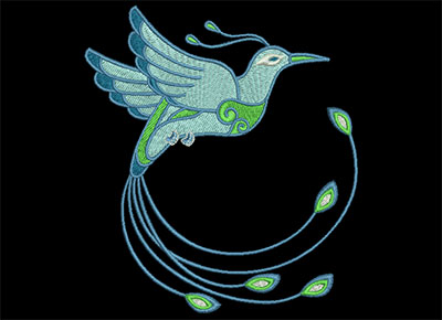 Embroidery Design: Birds of Paradise 5 Lg 4.37w X 4.93h
