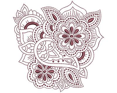 Embroidery Design: Beautiful Paisley 1 Lg 4.86w X 4.94h