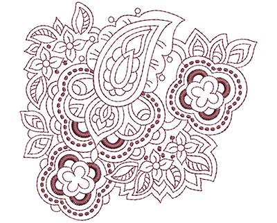 Embroidery Design: Beautiful Paisley 2 Lg 4.94w X 4.53h