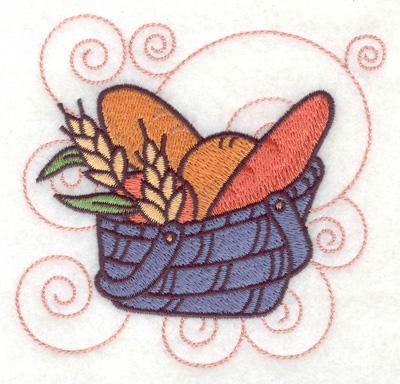 Embroidery Design: Bread in a basket small 3.89w X 3.83h
