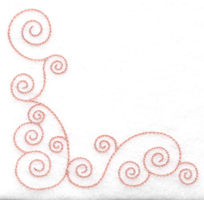 Embroidery Design: Corner swirls3.89w X 3.89h