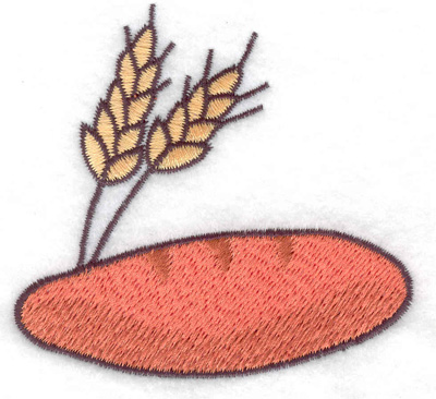 Embroidery Design: Loaf of bread 3.03w X 2.85h