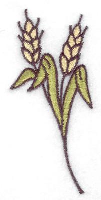 Embroidery Design: Wheat sheaf 1.68w X 3.51h