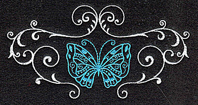 Embroidery Design: Butterfly Swirl B large 4.96w X 2.57h