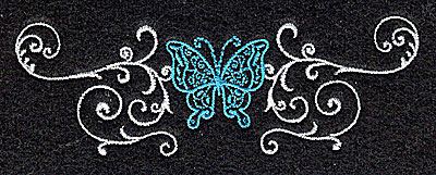 Embroidery Design: Butterfly Swirl D small 3.88w X 1.31h