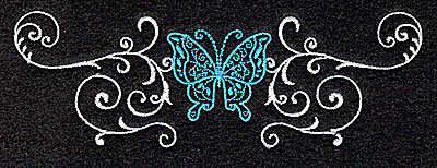 Embroidery Design: Butterfly Swirl D large 4.97w X 1.68h