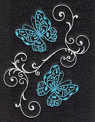 Embroidery Design: Butterflies Swirl E small 2.92w X 3.88h