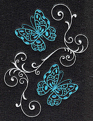 Embroidery Design: Butterflies Swirl E large 3.74w X 4.97h