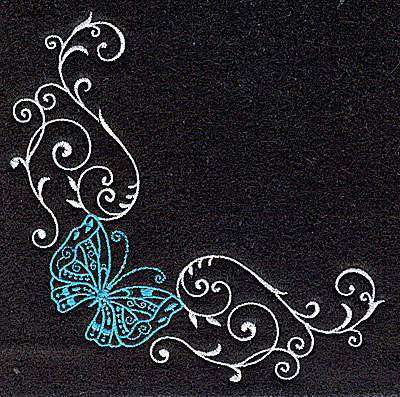 Embroidery Design: Butterfly Swirl G large 4.98w X 4.98h