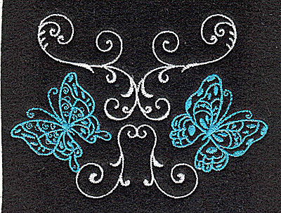 Embroidery Design: Butterflies Swirl I small 3.88w X 2.80h
