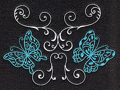 Embroidery Design: Butterflies Swirl I large 4.97w X 3.58h