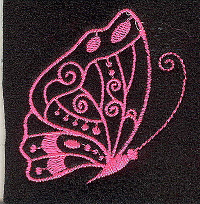 Embroidery Design: Butterfly C 2.10w X 2.21h