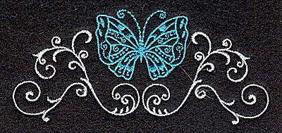 Embroidery Design: Butterfly Swirl M 3.88w X 1.73h