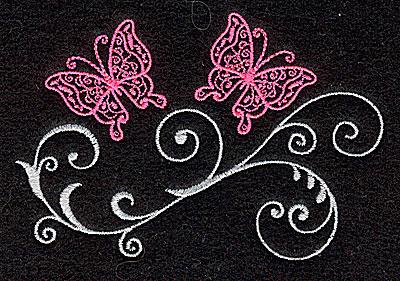 Embroidery Design: Butterflies Swirl N 3.86w X 2.62h