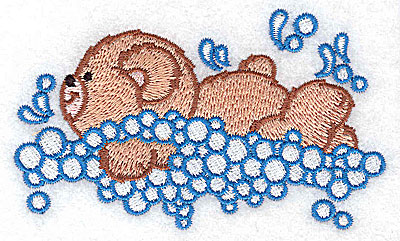 Embroidery Design: Baby bear swimming small 3.87w X 2.35h