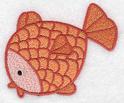 Embroidery Design: Fish large 3.12w X 2.63h