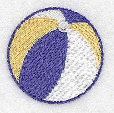 Embroidery Design: Beach ball 2.29w X 2.29h