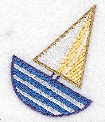 Embroidery Design: Sailboat 2.02w X 2.78h