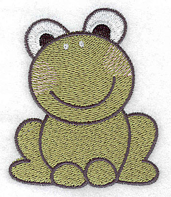 Embroidery Design: Frog 2.54w X 3.03h