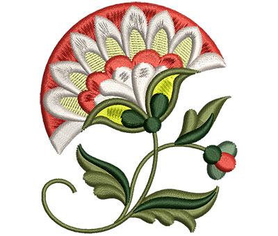 Embroidery Design: Big Jacobean Flower 4 2.60w X 3.05h