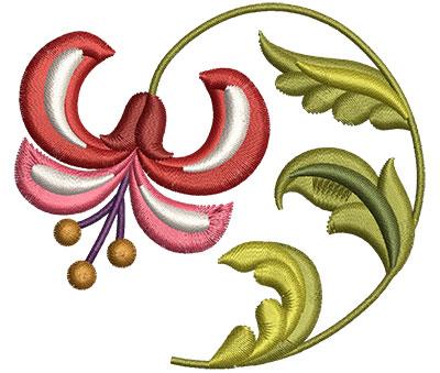 Embroidery Design: Big Jacobean Flower 5 3.02w X 2.69h
