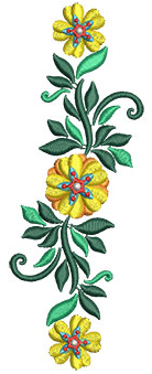 Embroidery Design: Bunch Of Flowers 1 2.19w X 5.99h