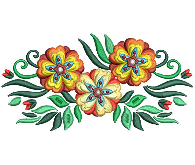 Embroidery Design: Bunch Of Flowers 3 5.97w X 3.06h