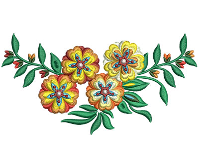 Embroidery Design: Bunch Of Flowers 4 6.00w X 3.09h