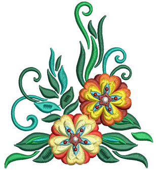 Embroidery Design: Bunch Of Flowers 5 4.01w X 4.50h