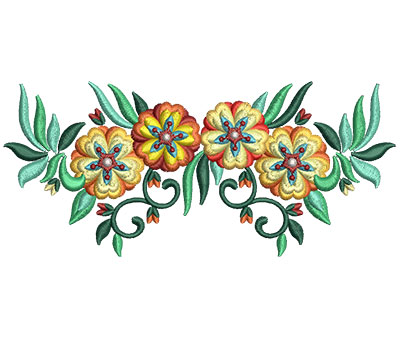 Embroidery Design: Bunch Of Flowers 8 5.97w X 2.66h