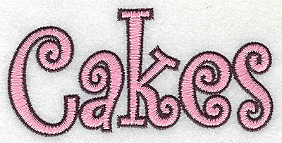 Embroidery Design: Cakes large 4.13w X 2.01h