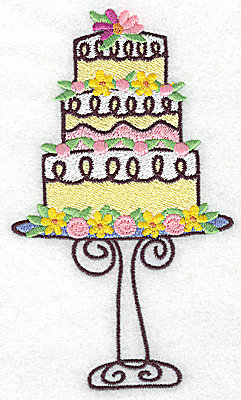 Embroidery Design: Three tier cake 3.23w X 5.97h