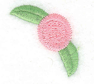 Embroidery Design: Pink Rosette large 1.49w X 1.51h