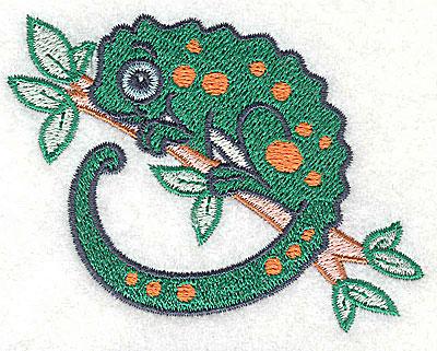 Embroidery Design: Chameleon small 3.34w X 2.55h