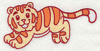 Embroidery Design: Tiger large 4.92w X 2.50h