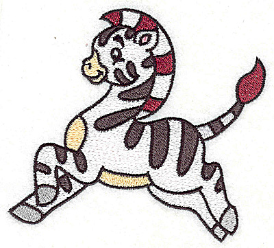 Embroidery Design: Zebra large 4.64w X 4.20h