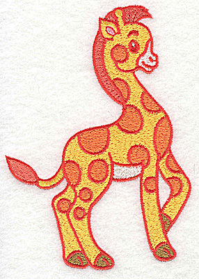 Embroidery Design: Giraffe large 3.54w X 4.95h