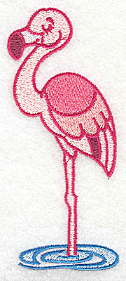 Embroidery Design: Flamingo large2.11w X 4.86h
