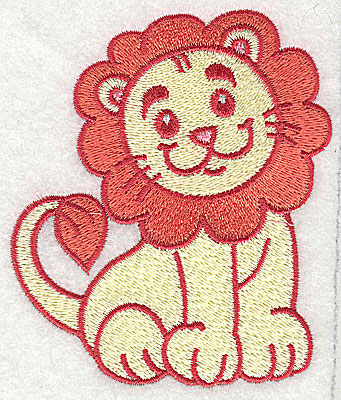 Embroidery Design: Lion large 3.23w X 3.78h