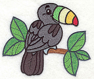 Embroidery Design: Tucan large 4.24w X 3.59h